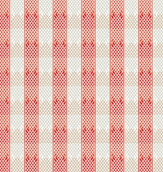 vintage red lines seamless pattern vector image vector image