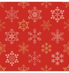 Snowflake seamless pattern Vintage outline version vector image vector image