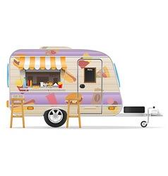 trailer food 03 vector image vector image