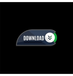 Colorful download web button Modern flat design vector image