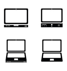 computers icons set vector image