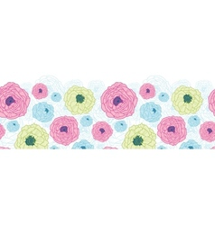 Lovely flowers horizontal seamless pattern vector image