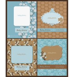 Set of Baby Arrival Cards vector image