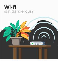 wi-fi danger vector image vector image