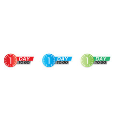 1 day to go countdown again one day for sale just vector
