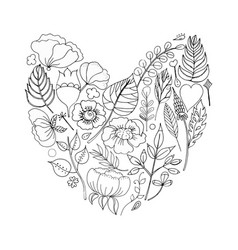 A floral frame in the shape vector