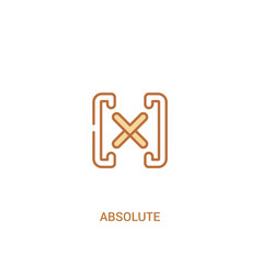 Absolute concept 2 colored icon simple line vector