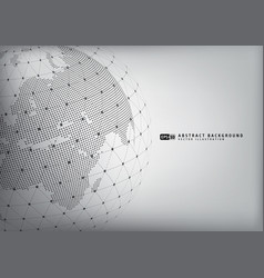 Abstract earth globe with wireframe sphare vector