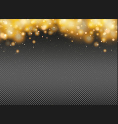 Abstract gold glitters decoration element vector