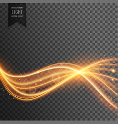 Abstract golden lens flare transparent light vector