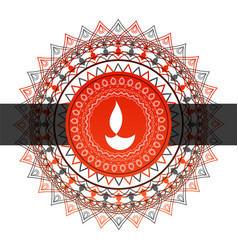 Abstract indian style decorative diwali festival vector