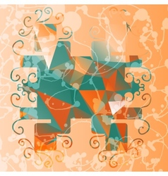 Abstract stylized frame triangles background vector