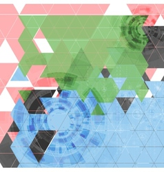 Abstract tech triangles background vector