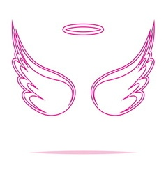 Angel wings icon outline2 vector image