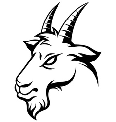 Angry goat black vector
