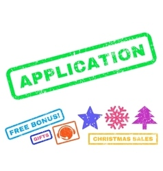 Application Rubber Stamp vector