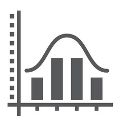 Average glyph icon data and analytics vector