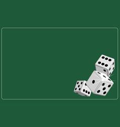 background dice gambling green vector image