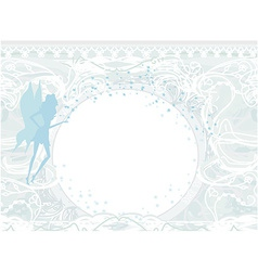background with a beautiful fairy silhouette with vector image