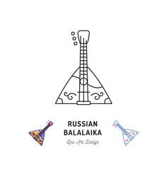 Balalaika icon russian stringed musical instrument vector