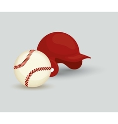 Baseball ball hat vector