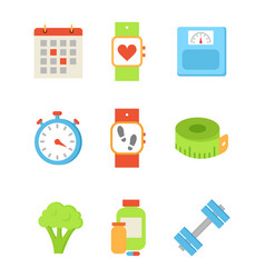 Calendar and wristband set vector