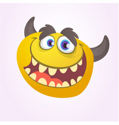 cartoon yellow monster vector image