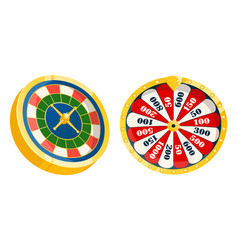 Casino roulettes and wheel with numbers vector
