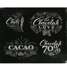 Chocolate labels collection black vector image