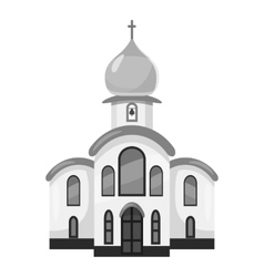 Church icon gray monochrome style vector image