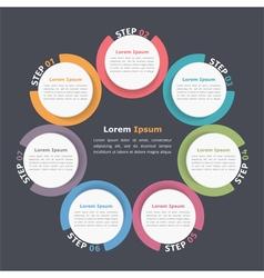 Circle Diagram Five Elements vector