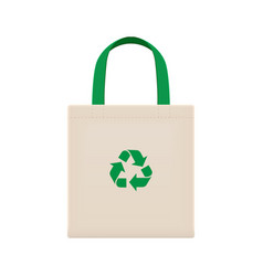 Cloth eco bags blank or cotton yarn cloth bags vector