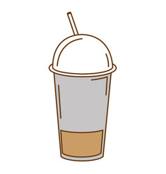 coffee in plastic cup vector image