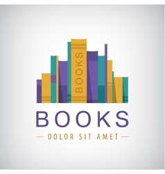 Colorful books icon vector