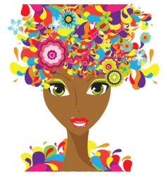 colorful lady vector image