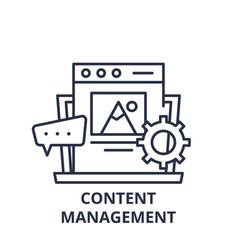 content management line icon concept content vector image