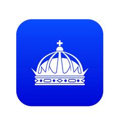 crown icon digital blue vector image