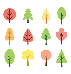 Cute trees vector