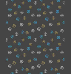delicate snowflakes christmas pattern vector image