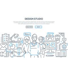 design studio - modern line design style vector image