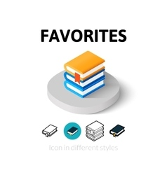 Favorites icon in different style vector