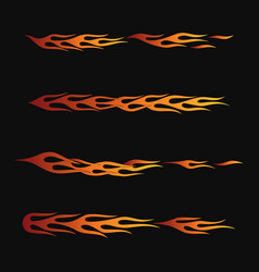 fire flames in tribal style for tattoo vehicle vector image