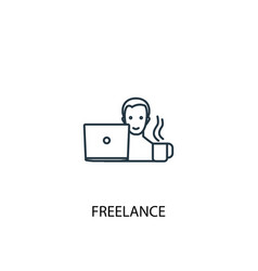 freelance concept line icon simple element vector image
