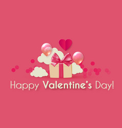 happy valentine s day background with hearts vector image