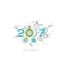 Infographic concept 2017 year of opportunities vector image