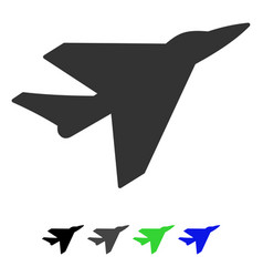 Intercepter flat icon vector