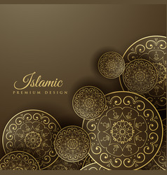 Islamic background with mandala decoration vector