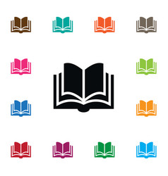 isolated dictionary icon learning element vector image