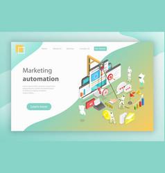 Isometric concept digital marketing vector