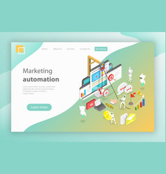Isometric concept of digital marketing vector